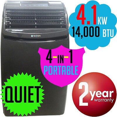 4.1kw NexHom Portable Refrigerated AIR CONDITIONER Reverse Cycle Heater AC NEW