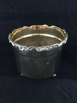 Vintage Brass Footed Pot Plant Holder / Planter Decorative Top