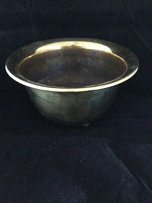 Vintage Brass Footed Pot Plant Holder / Planter