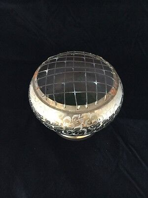 Vintage Brass Footed Rose Bowl Vase