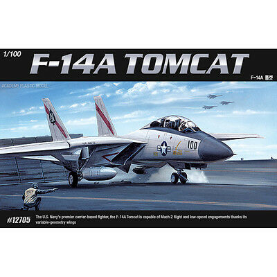 Academy 1/100 #12705 USN F-14A TOMCAT Plastic Model Military Airplane