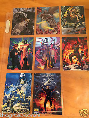 Star Wars Galaxy Magazine LOT of 15 Promo Card from Issues 1 - 10
