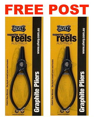 2 X Sets Of Alvey Graphite Beach Worming Fishing Plier Catch Beach Sand Worms