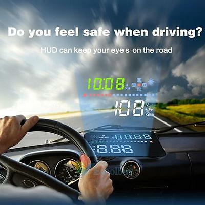 """Car HUD A3 3.5""""in Screen GPS Head Up Display With Speedometer Kmh/MPH Speed Warn"""