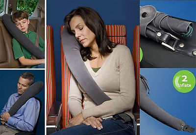 Luxury Car Seat Inflatable Travel Pillow Head Neck Rest Cushion Children Adult