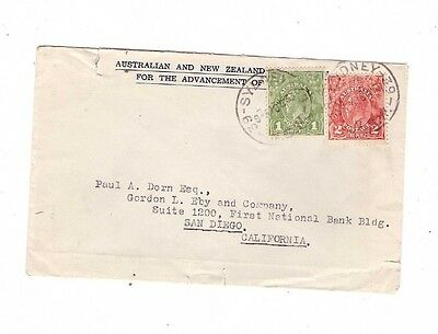 Australia 1933 Advancement of Science Cover to USA, cds Sydney
