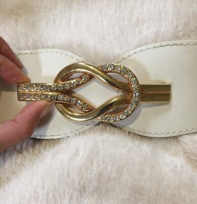 Vintage White and gold Diamonte Belt