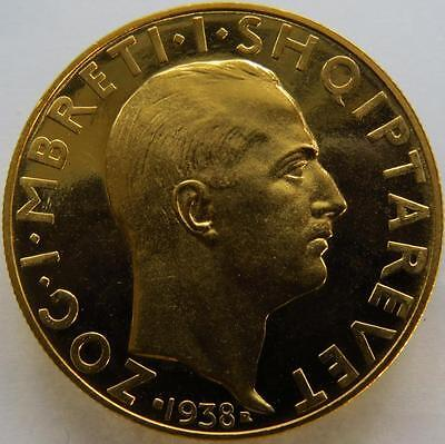 1938 ALBANIA PROOF 100 Franсs VERY RARE COIN MINTAGE 500 pcs !!!