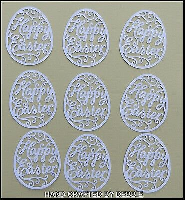 Easter Egg Die Cuts X 10,card Making,embellishments,album,baby,baptism,infants