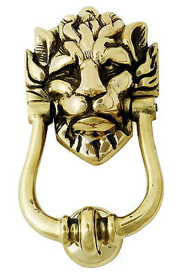 Solid Brass Lion's Head Door Knocker – Number 10 Downing Street Lion Knockers