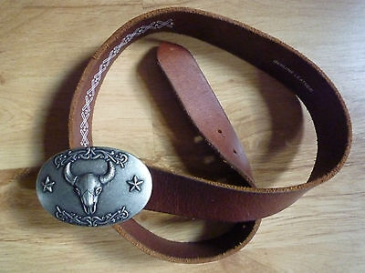 Leather Belt Knucklehead with Buckle