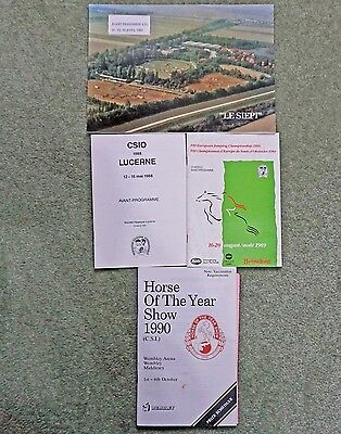Collection Of Programmes Including 1989 European Championships