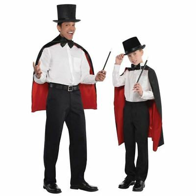 Deluxe Magician Cape Wizard Vampire Cloak Adult Child One Size Fancy Dress