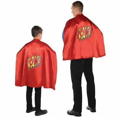 Super Hero Cape Dress Up Adults Childrens Comic Book Costume Accessory