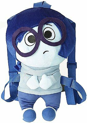 Inside Out Large Plush Backpack - Sadness