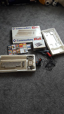 Commodore 64 Personal Computer Boxed with games , Light Gun, Joystick, Tape Deck