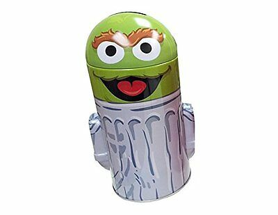 Sesame Street Head Shape Tin Coin Bank - Oscar