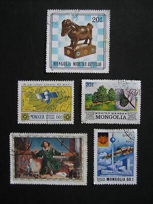 Mongolia Stamps - Mixed Collection - Set A (5 pieces)