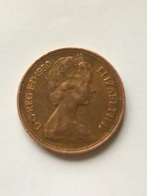 """1980 UNCIRCULATED """" TWO NEW PENCE """" 2p COIN"""