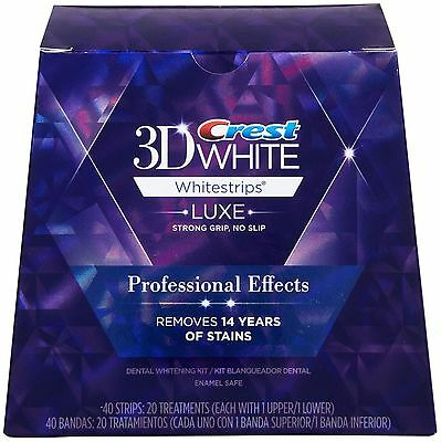 Bandes CREST blanchiment dent 3d WHITE LUXE- Neuf