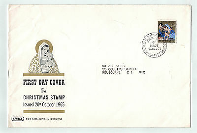 1963 Christmas on Sigma Pharmaceuticals Cachet FDC
