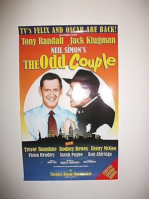 Small 'The Odd Couple' west end theatre poster (Tony Randall, Jack Klugman)