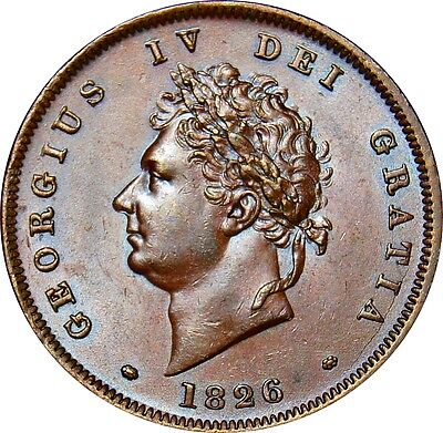 1826 Copper Penny, George IV. Virtually  Uncirculated. Spink UNC £700.00