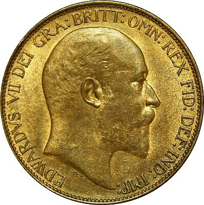 1910 Edward VII, Halfpenny. Uncirculated. Spink £90.00