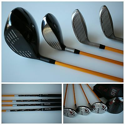 Ping I15 Driver, 3 Wood, 3 Hybrid, 4 Hybrid, All With Ust Axivcore Stiff Shaft