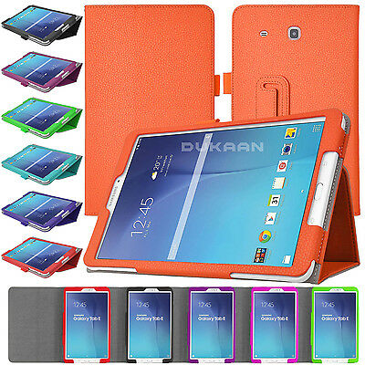 New Leather Folio Book Stand Cover Case For Samsung Galaxy Tab E, Tab A, Tab S2