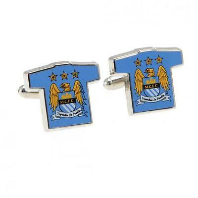 Manchester City FC Shirt Style  Cufflinks - Official Licensed Product (m04cshmc)