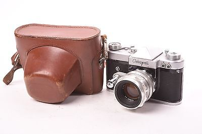 KMZ Start SLR russian camera with Helios-44 f/2 - 58mm with case.