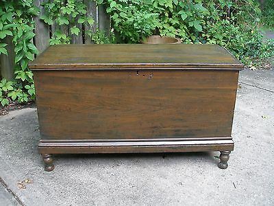 Antique Solid Walnut Blanket Chest From The 1700's Restored