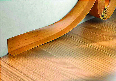 PVC FLEXIBLE SKIRTING BOARD SIT ON SKIRTING JOINT PVC ANGLE -  5m VARIOUS COLORS