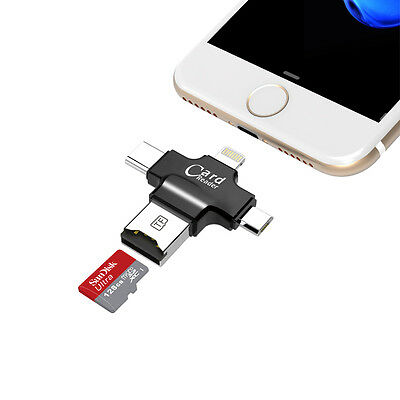 USB iFlash Drive Microsd TF Memory Card Reader TYPE-C Adapter For iPhone samsung
