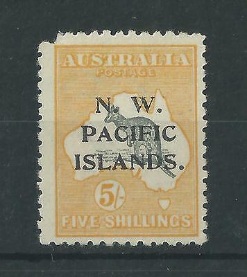 New Guinea 1915 5/- Roo NW Pacific Islands Opt SG92 Unused