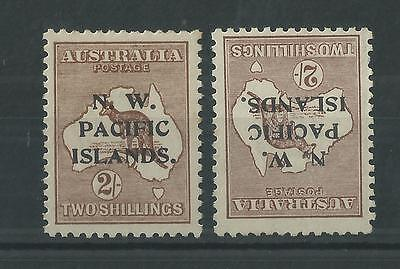 New Guinea 1915-1916 2/- Roo NW Pacific Islands Opts SG97/97w WMK INV Cat£65