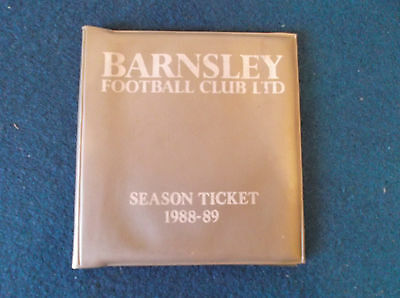Barnsley FC Season Ticket 1988/89 booklet - partly used