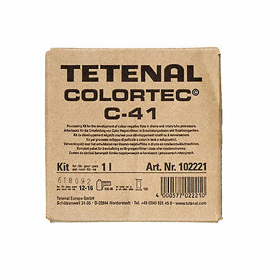 Tetenal Colortec C-41 Negative Rapid 2 Bath Kit 1L - Colour Neg Film Developer