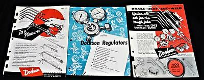 DOCKSON WELDING EQUIPMENT & GUAGES ADVERTISING SALES FLYERS 1950s VINTAGE