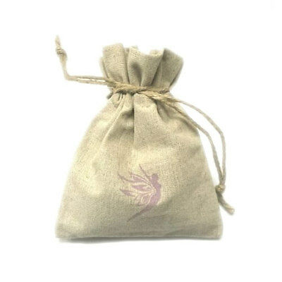 Hemp Bag - For Storing Menstrual Cups, Intimate Products, and More - Pink Logo