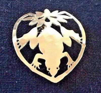 Vintage Frog Toad Pin Small Brooch