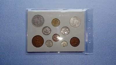 Vintage Great Britain(UK),1944 Coin Year Set.(73RD Birthday,With Silver).������.