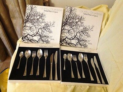 Vintage 1970s Arthur Price County Stainless Avalon Cutlery 2 Place Settings