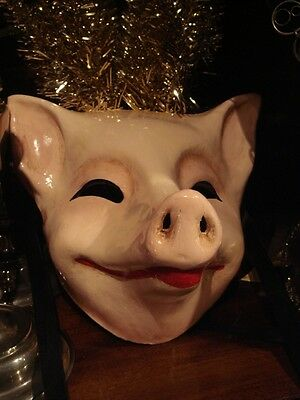 Italian Papier Mache Grinning Pig Mask Occult Pagan American Horror Story