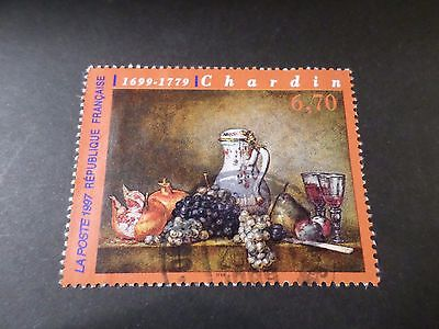 FRANCE, 1997 timbre 3105, TABLEAU ART, CHARDIN, oblitéré, used STAMP PAINTING