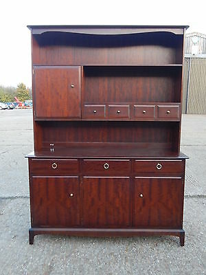 Stag Minstrel wall dresser sideboard unit with open front bookcase top +Delivery