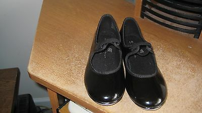 girls youth size 10 tap dance shoes       a b t spotlight