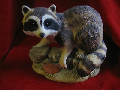 Vintage Kowa Porcelain Life Like Raccoon Figurine by China Pete's
