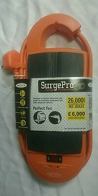 Belkin SurgePro, 6-Way Surge Protector, Impact Resistant, 2m Cable
